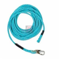 """Guardian 01340 50' 5/8"""" Standard Blue Poly Steel Rope with Snap Hook End"""