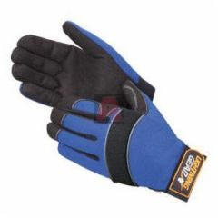 Mechanic Gloves 0916 L Blue Knight Premium Simulated Black Leather