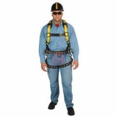 MSA 10072487 Workman Harness with Tongue Buckle Leg Straps, Size Universal