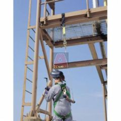 MSA 10092170 Workman Kit Includes Standard Size Vest Style Harness with Qwik-Fit Leg Straps Shock Absorbing Single Leg Adjusable Lanyard and Carry Bag