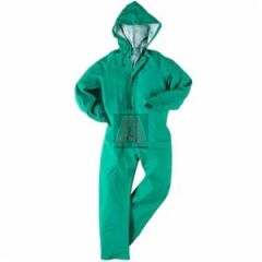 Neese I96Aca-4X Green Acid Coveralls with Hood, Size 4XL