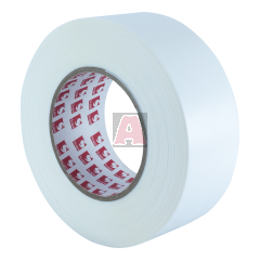 White Poly Tape with Pinked Edges