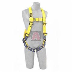 DBI 1102000-Un Delta Ii Full Body Harness, Size Universal, Vest Style, Back D-Ring, Tongue Buckle Leg Straps