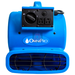 OmniDry Blue Mini Air Mover with Daisy Chain, 1.8 AMP, 1/5 HP, 3-Speed