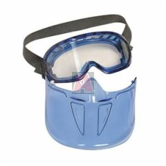 Jackson 3010343 The Shield Clear Anti-Fog Lens Blue Frame Safety Goggles with Detachable Faceshield, New# 18629