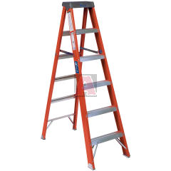 Louisville Ladder FS1500 Slip Resistant Step Ladder, 300 lb, 3 3 Inch Non-Conductive Rail