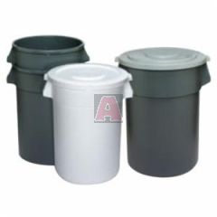 32 Gallon Gray Round Trash Container