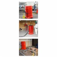 "Ruwac Ws2320-Hd-Xt Attic Vac Vermiculite Removal System, 220V Single Phase Red Raider, 300Cfm, 9 Gallon Dustpan, & 3"" Inlet W/ 12"" Hec-Xt 55 Gallon Separator and Tipping Mechanism W/ Vermiculite Drum Level Detector"