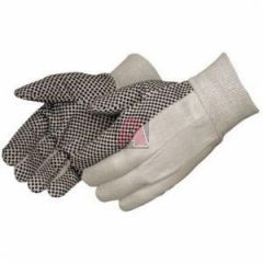 Liberty Glove 4505A One Size Fits All-Mens 10 Ounce Cotton Canvas with Black Pvc Dots,Straight Thumb, Dots On Palm Index Finger and Thub, Clute Pattern, Knit Wrist 25 Dozen Per Case