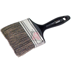"""4"""" 2 Tone Paint Brush with Polyester / Lacquered Wood Handle, 2840"""