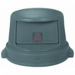 55 Gallon Dome Top Gray Lid for Round Trash Container