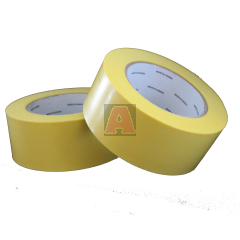 Yellow Poly Tape with Pinked Edges - 48mm x 55m