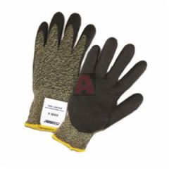 710SANF-LG Aramid/Polyamide Cut Resistant Gloves, Black and Yellow Shell with Black Foam Nitrile, Size Large