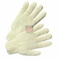 West Chester 712S Heavyweight Gloves, Large, Cotton/Polyester, White, Knit Wrist