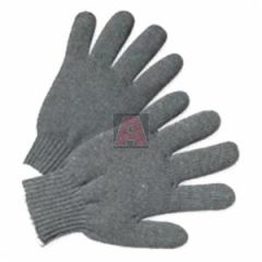 Heavy Weight String Knit Grey Poly / Cotton Gloves