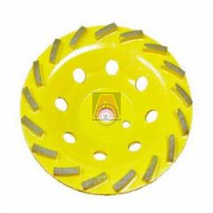 EDCO 72030 Diamond Cup Wheel, 7 Inch Dia, For Use with TMC-7 Grinder, Yellow