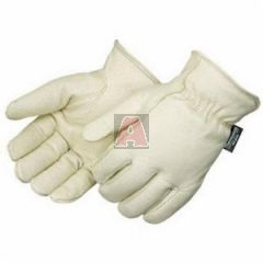 Lined Pigskin Leather Driver Gloves, Size XL
