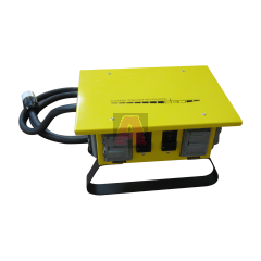 US Wire & Cable TPB376 High Visibility Power Box, 6 Outlets, Neon Orange