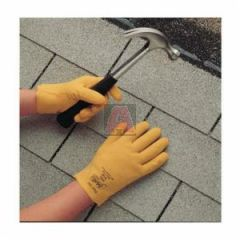 Best 962-XL Fuzzy Duck Yellow Fully Coated Pvc Gloves with Cotton Jersey Liner, Slip-On, Size 11 / XL