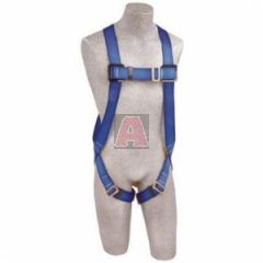 DBI Sala Protecta FIRST AB17510 Full Body Harness with Back D-Ring, Universal, 320 lb Load, Polyester, Blue/Yellow, Zinc Plated, >5000 lb Tensile