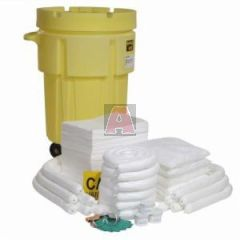 Oil Only 88 Gallon Capacity 95 Gallon Wheeled Salvage Drum Spill Kit
